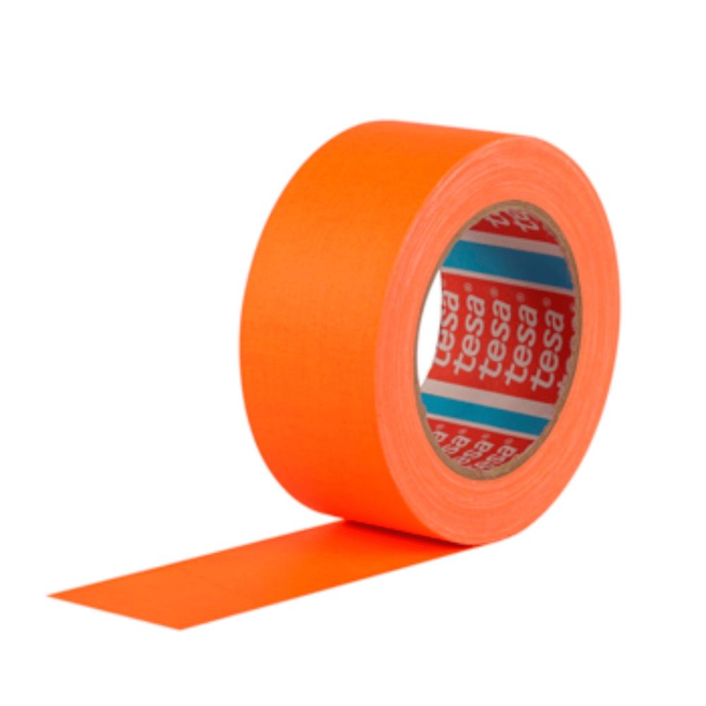Fita de Tecido Gaffer Tape Tesa 48mm X 25m Laranja Fluorescente  - Casa do Roadie