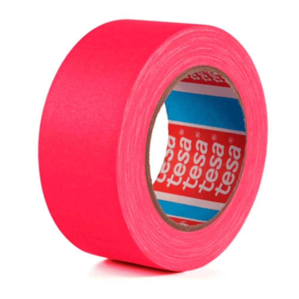Fita de Tecido Gaffer Tape Tesa 48mm X 25m Rosa Fluorescente