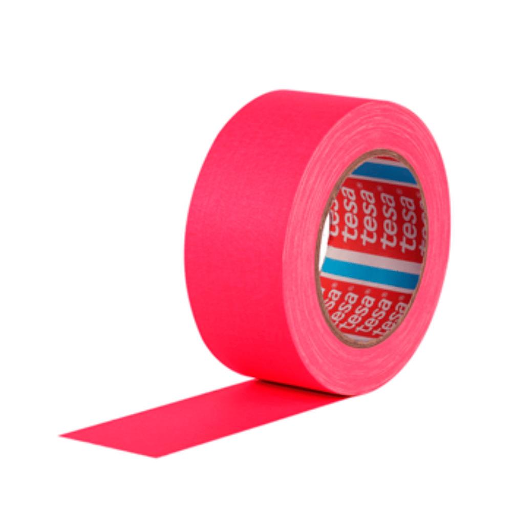 Fita de Tecido Gaffer Tape Tesa 48mm X 25m Rosa Fluorescente  - Casa do Roadie
