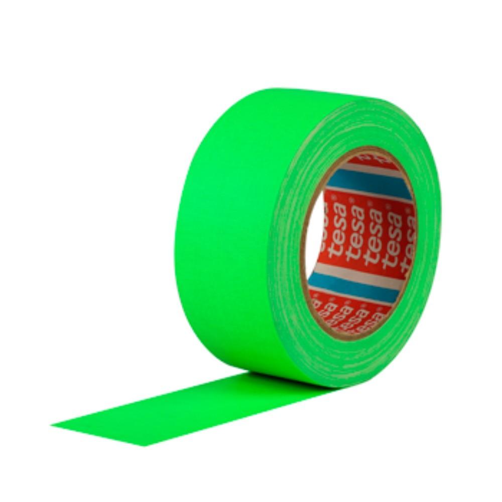 Fita de Tecido Gaffer Tape Tesa 48mm X 25m Verde Fluorescente