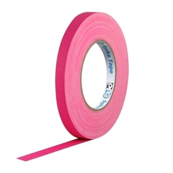 Fita de Tecido Pro Spike Pro Tapes 13mm X 50m Rosa Fluor  - Casa do Roadie