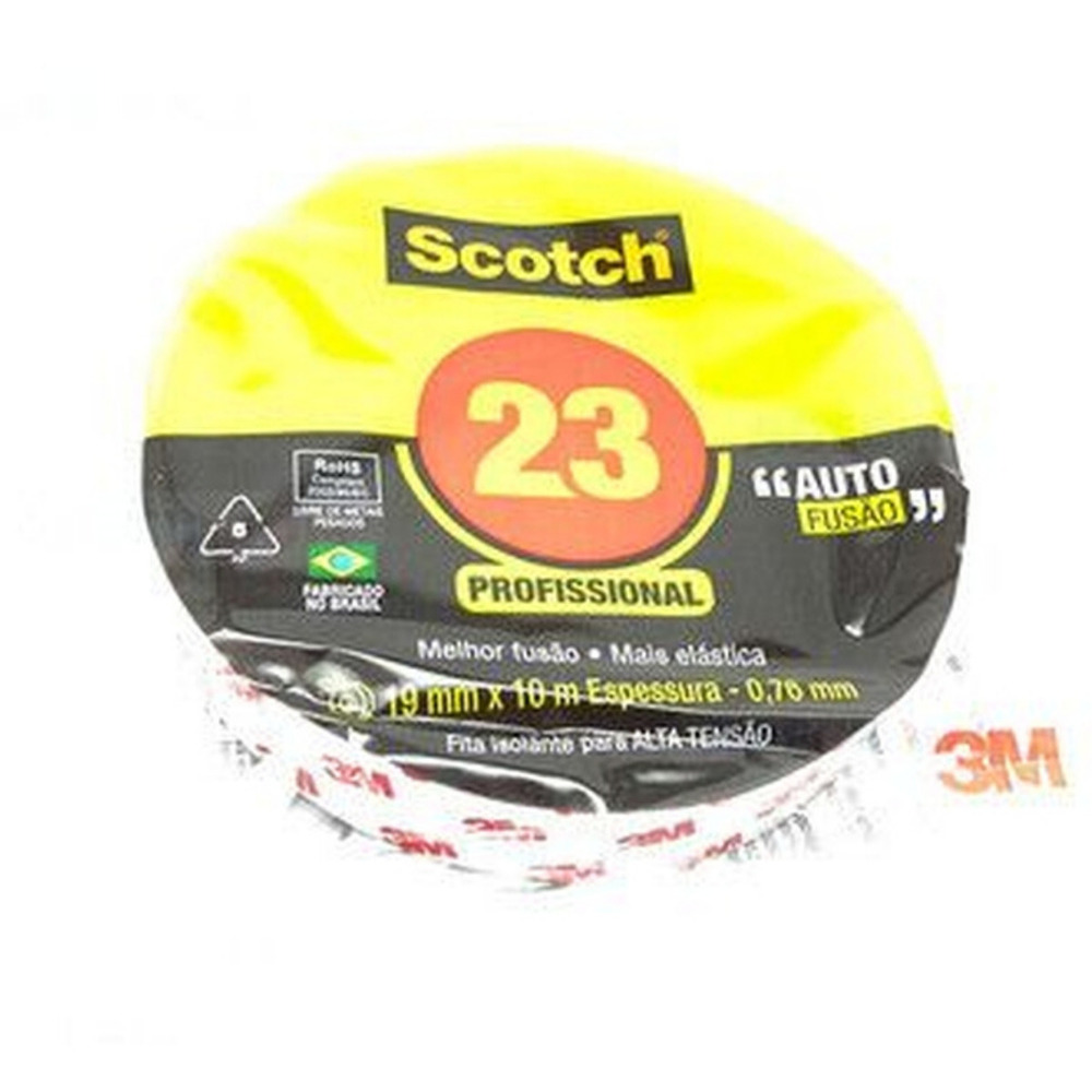 Fita Isolante Autofusão Scotch 23 3M 19mm X 10m  - Casa do Roadie