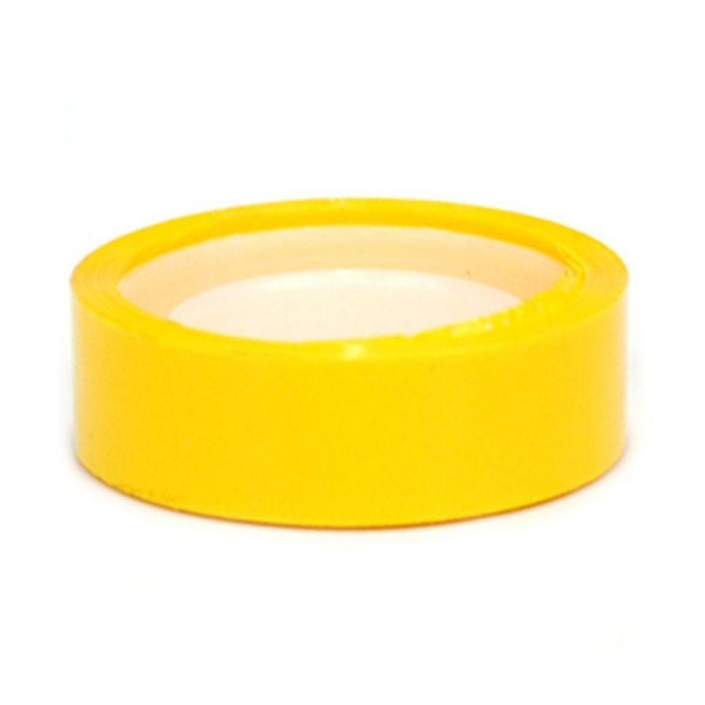 Fita Plástica Adesiva Colorida Adere 12mm x 10m Amarela