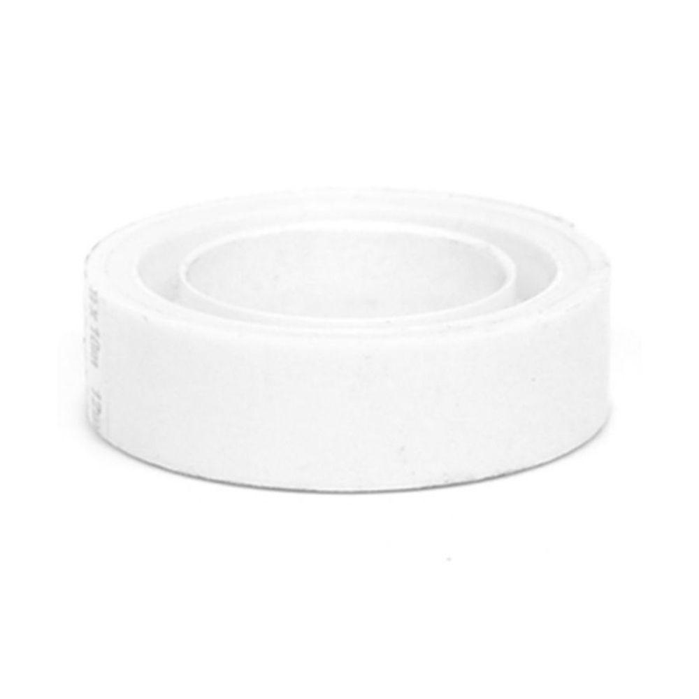 Fita Plástica Adesiva Colorida Adere 12mm x 10m Branca