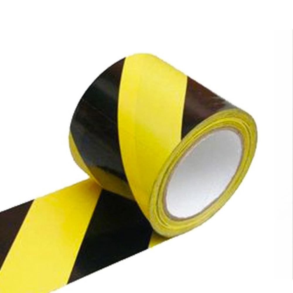 Fita Plástica para Demarcação de Área Zebrada Adere 69mm X 200m Amarela e Preta