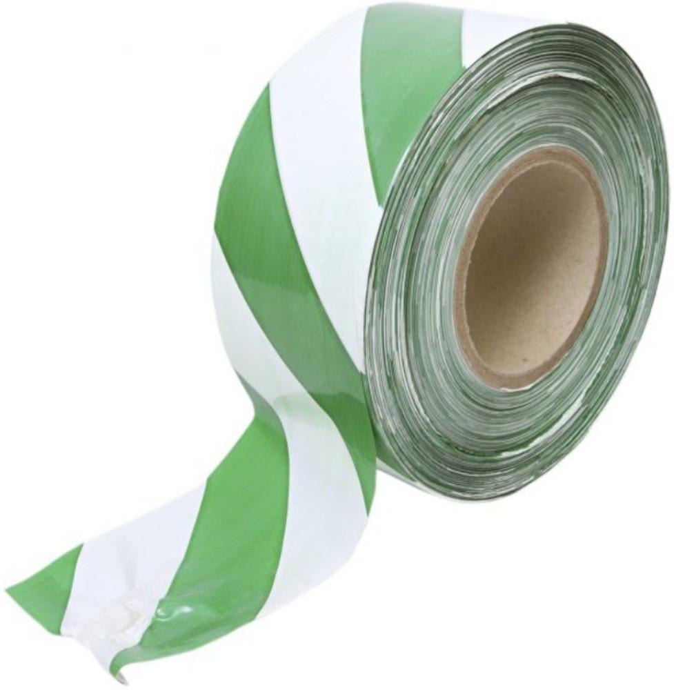 Fita Plástica para Demarcação de Área Zebrada THR 65mm X 160m Verde e Branca