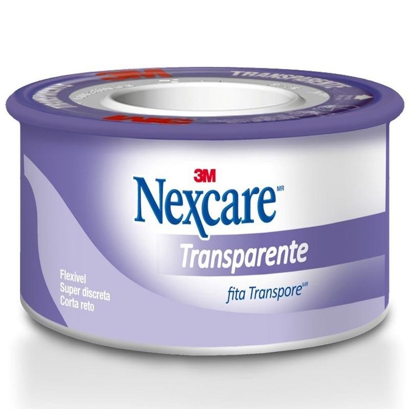 Fita Transpore Nexcare 3M 25mm X 90cm Transparente  - Casa do Roadie
