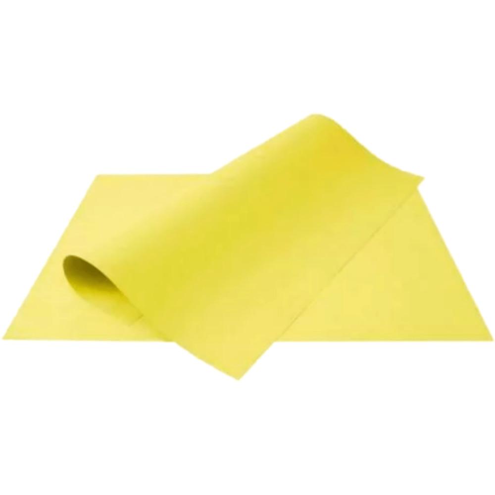 Folha de Cartolina Amarela 50cm X 66cm