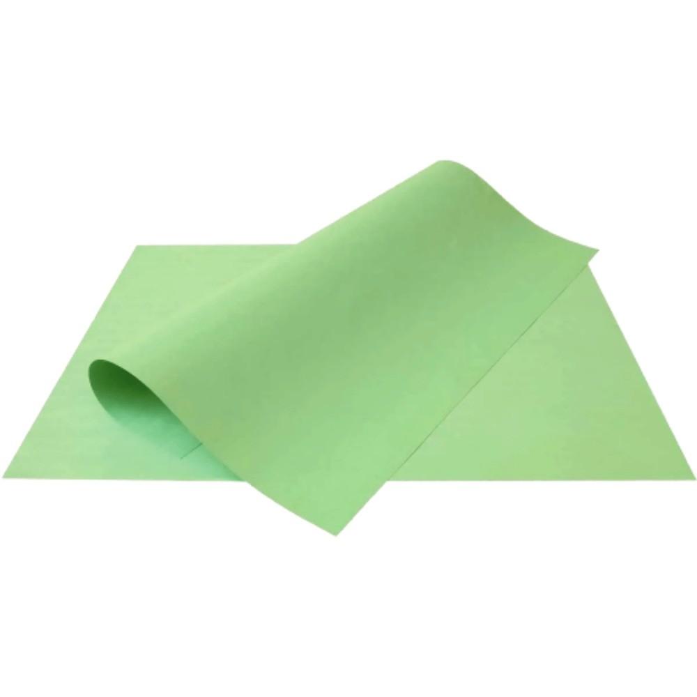 Folha de Cartolina Verde 50cm X 66cm  - Casa do Roadie