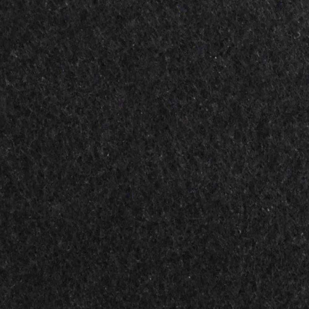 Forração de Carpete 3mm x 2m largura Preto - Metro Linear  - Casa do Roadie