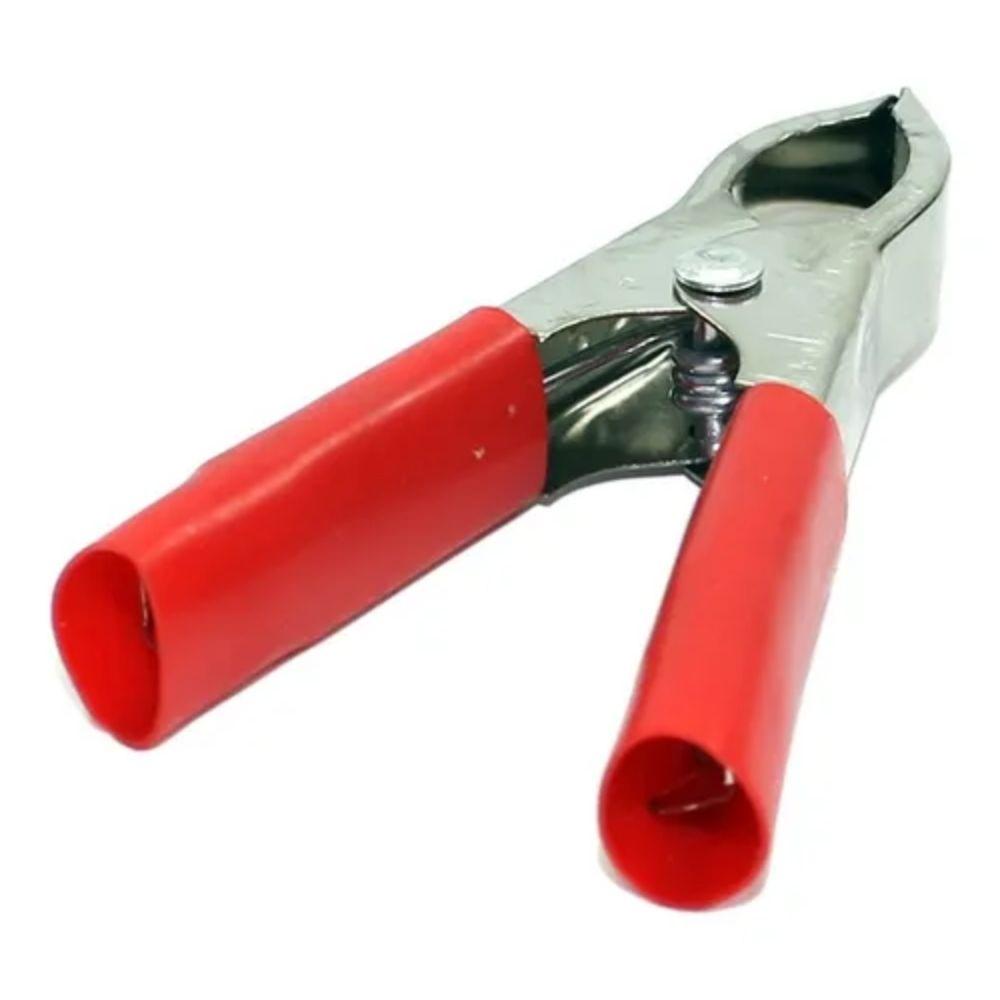 Garra Jacare Bateria 100A Vermelha