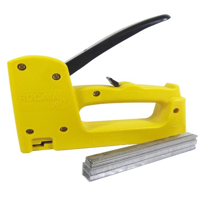 Grampeador e Pinador 80/F Rocama Amarelo