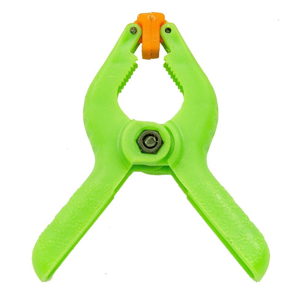 "Grampo de Nylon ""Jacaré"" Spring Clamp Verde 6,48mm"