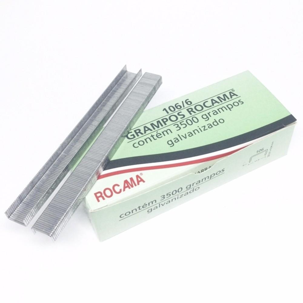Grampos Galvanizados 106/6 Rocama - 3500 Unidades