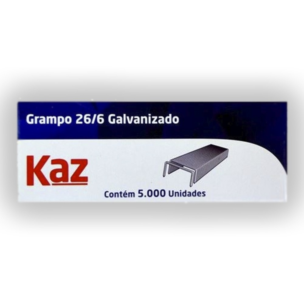 Grampos Galvanizados 26/6 - 5000 Unidades