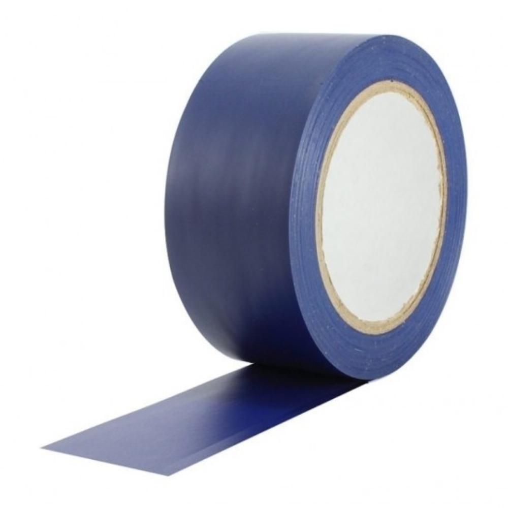 Kit 5 Fitas de PVC para Demarcação de Solo Tectape 48mm X 30m Azul