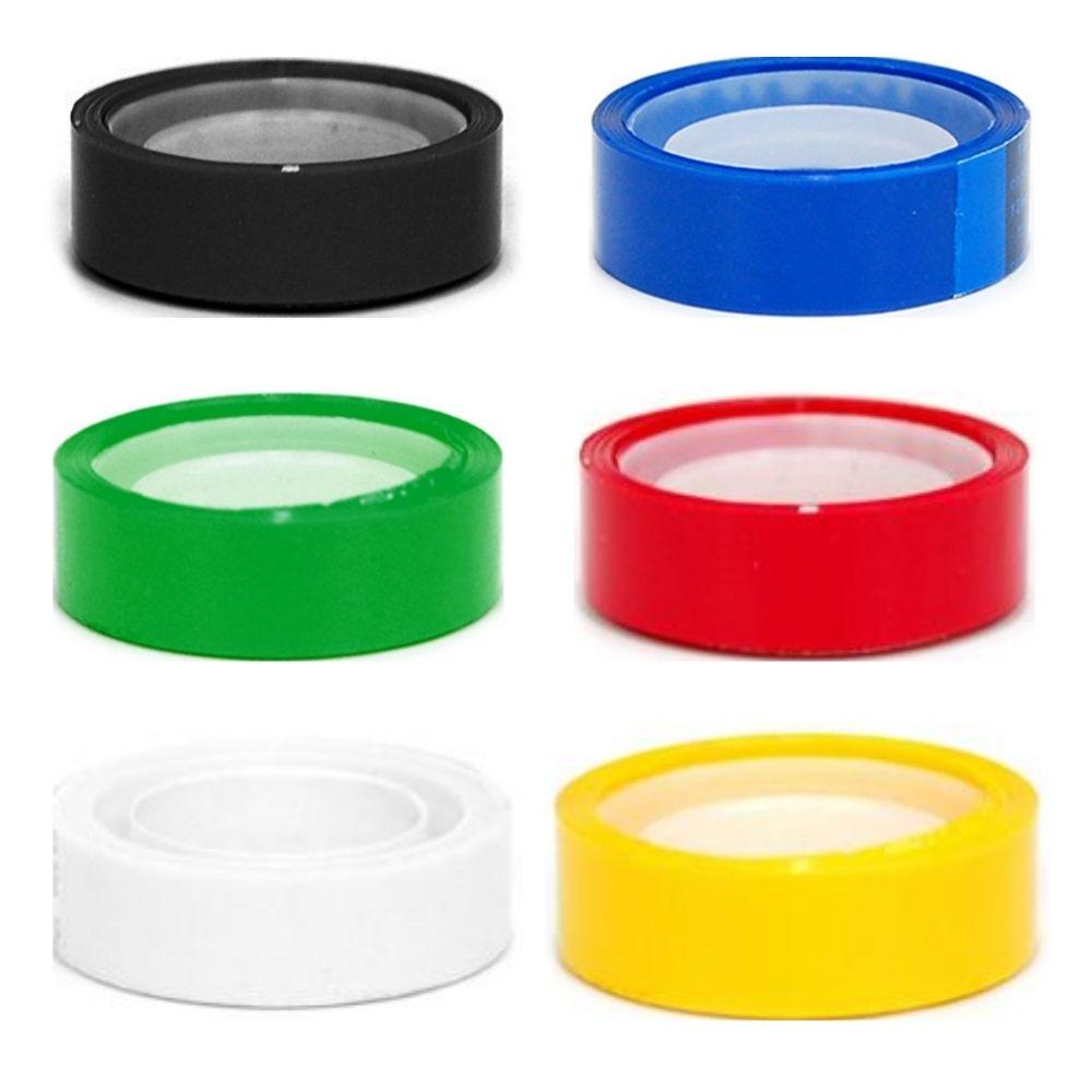 Kit com 6 fitas adesivas coloridas Adere 12mm x 10m