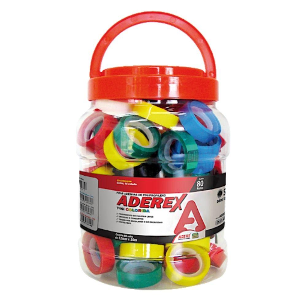 Kit com 6 fitas adesivas coloridas Adere 12mm x 10m   - Casa do Roadie