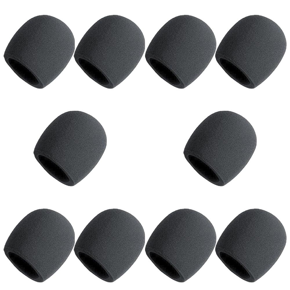 Kit Espuma para Microfone Preta - 10 Unidades