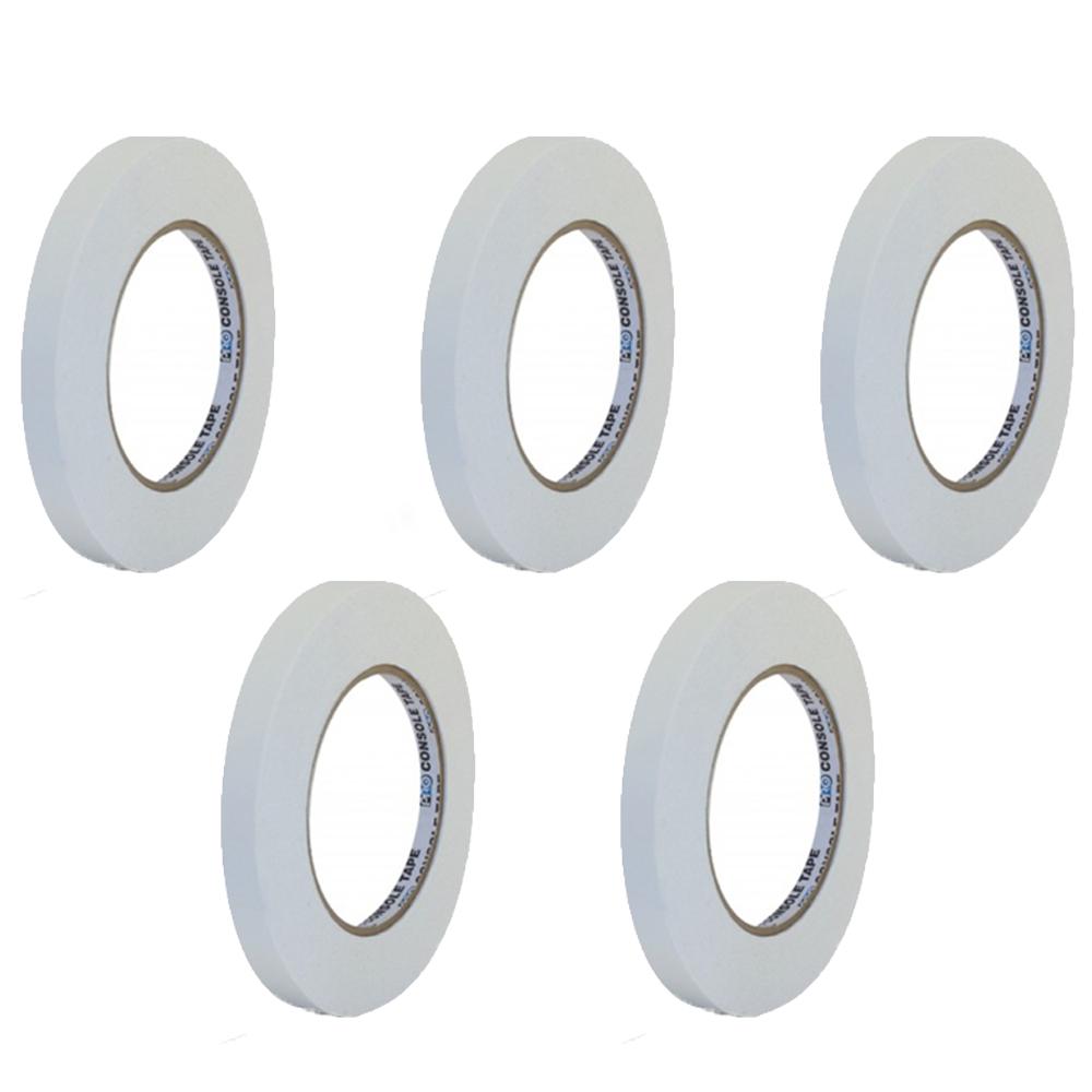 Kit Fita de Papel para Console Artist Tape Pro Tapes 13mm X 50m Branca - 5 Unidades