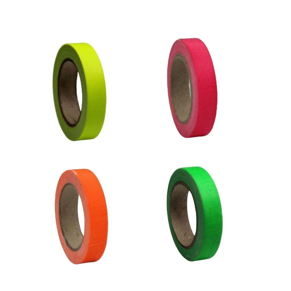 KIT Mini Fita de Tecido Gaffer Tape 12mm X 5m 4 cores  - Casa do Roadie