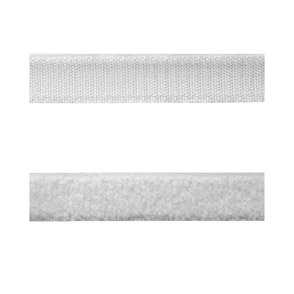 Kit Tira de Contato Adesivo Velfix 25mm X 1m Branca - Macho e Fêmea