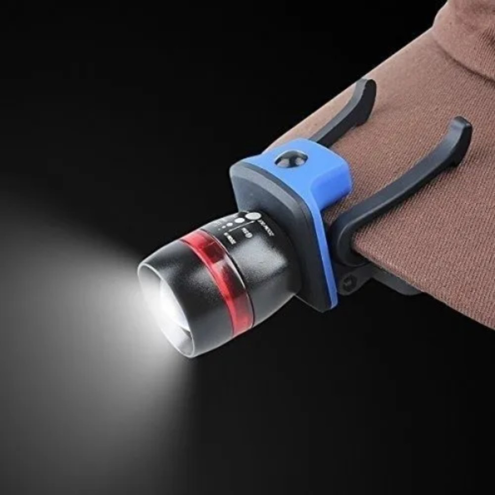 Lanterna de Cabeça com Suporte para Boné ThorFire Azul