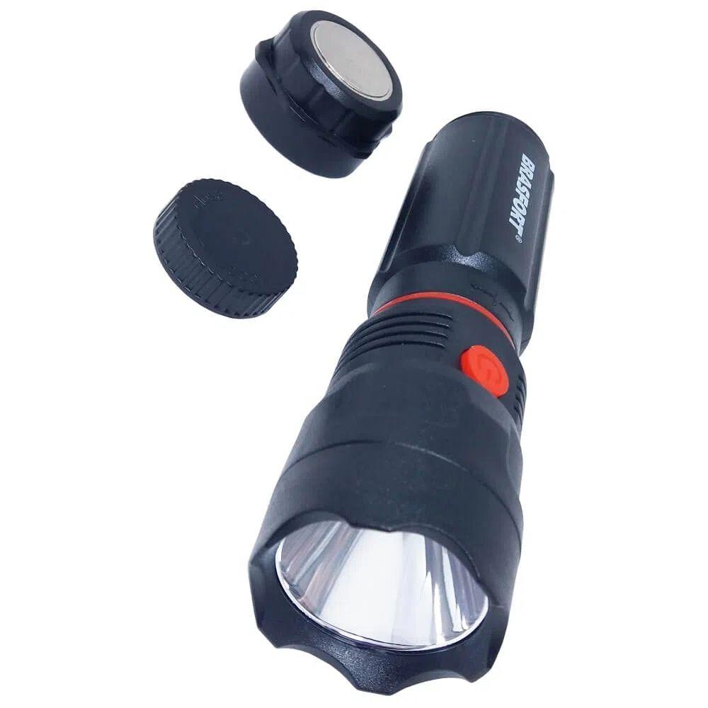Lanterna LED com base magnética Cops Brasfort  - Pilha Palito  - Casa do Roadie