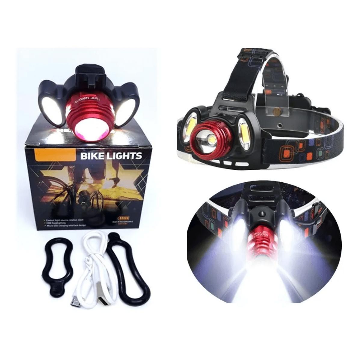 Lanterna LED de Cabeça recarregável com micro USB  - Casa do Roadie