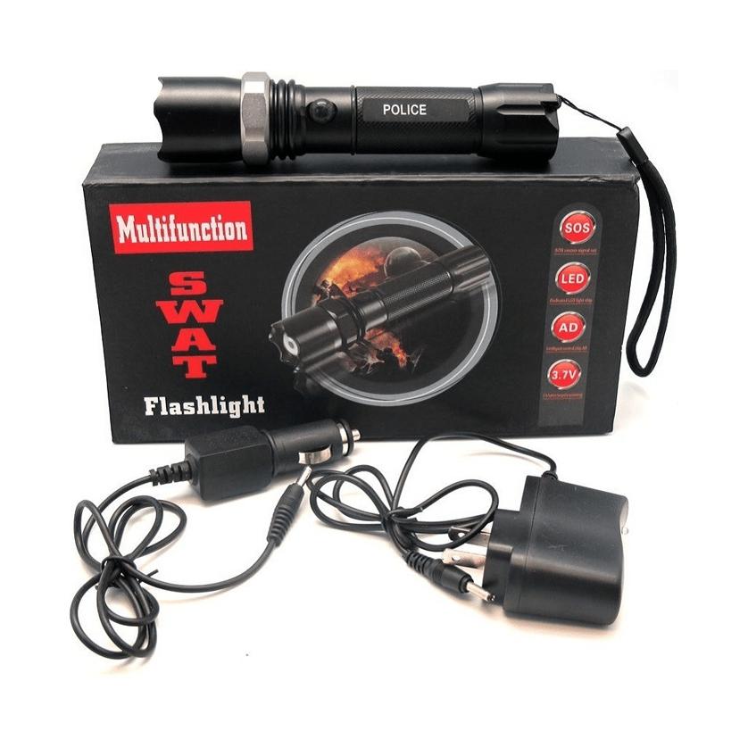 Lanterna Tática Led Swat com Sinalizador