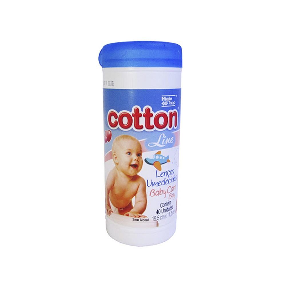 Lenço Umedecido Cotton Line Transparente