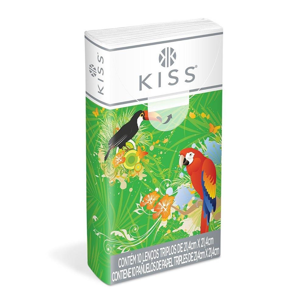 Lenços de Papel Kiss Bolso Suave - 10 Folhas