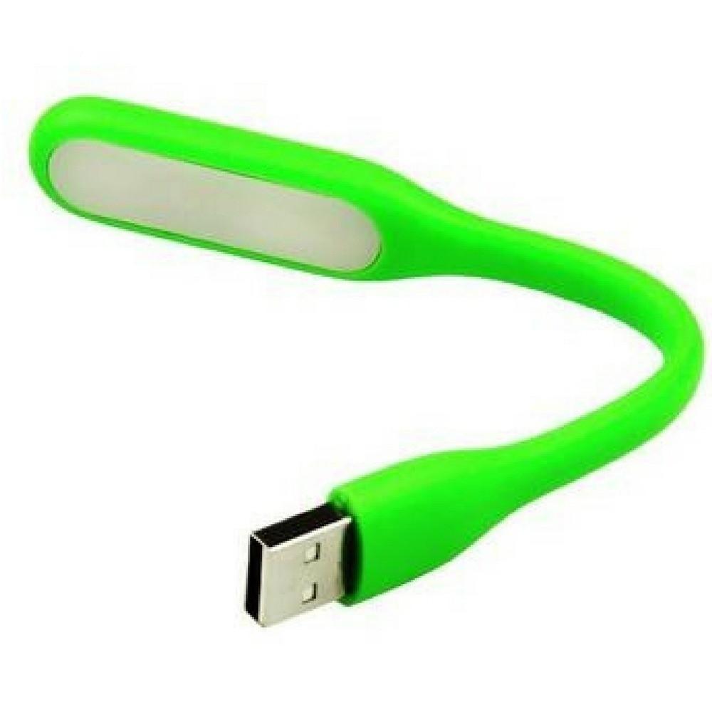 Luminária de LED Mini Flexível com USB Verde  - Casa do Roadie