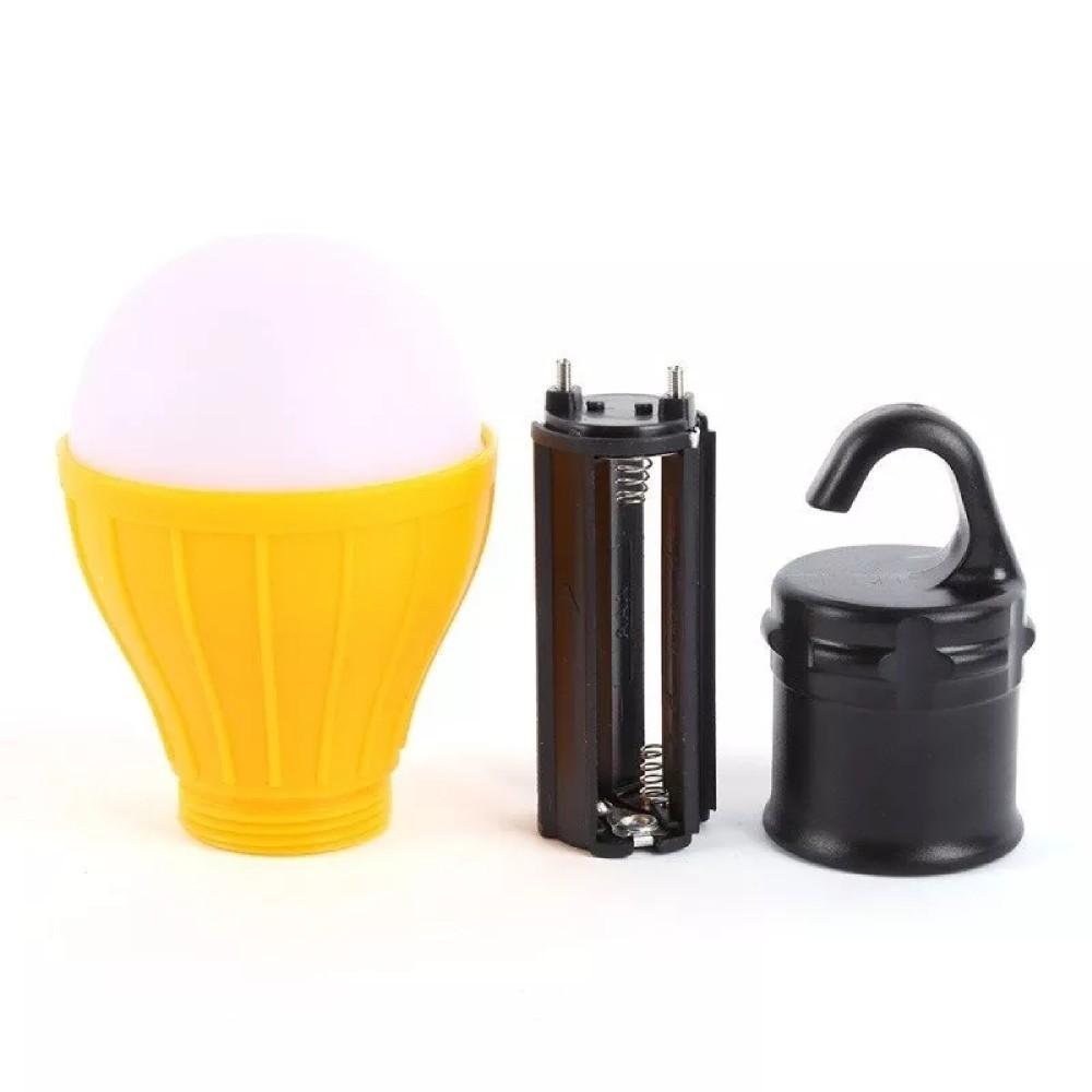 Luminária LED Lampada com Gancho Amarela