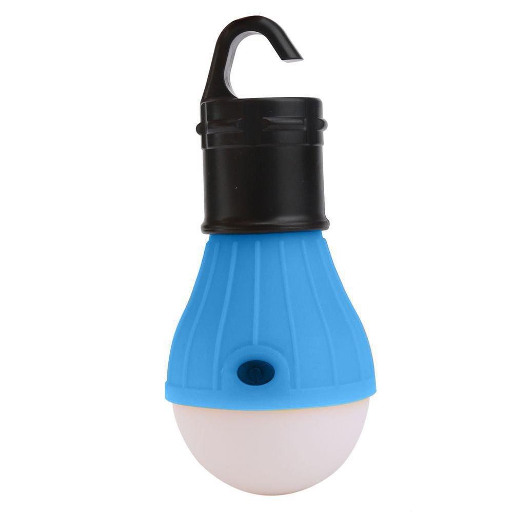 Luminária LED Lampada com Gancho Azul