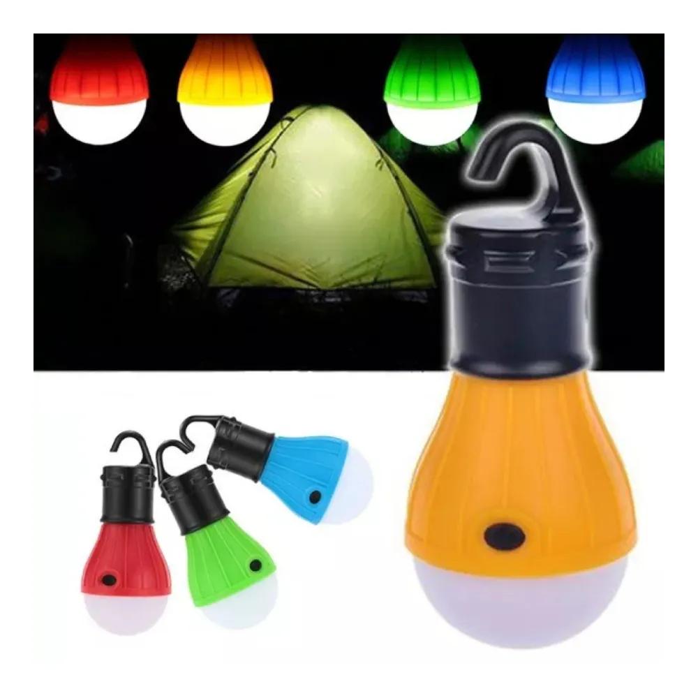 Luminária LED Lâmpada com Gancho Verde  - Casa do Roadie