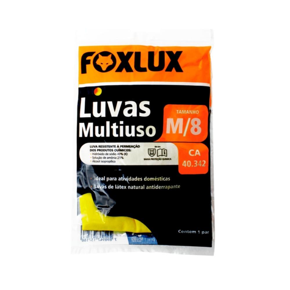 Luva de latex multiuso M Foxlux