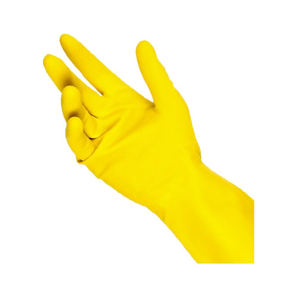 Luva de Latex Talge Amarela G  - Casa do Roadie