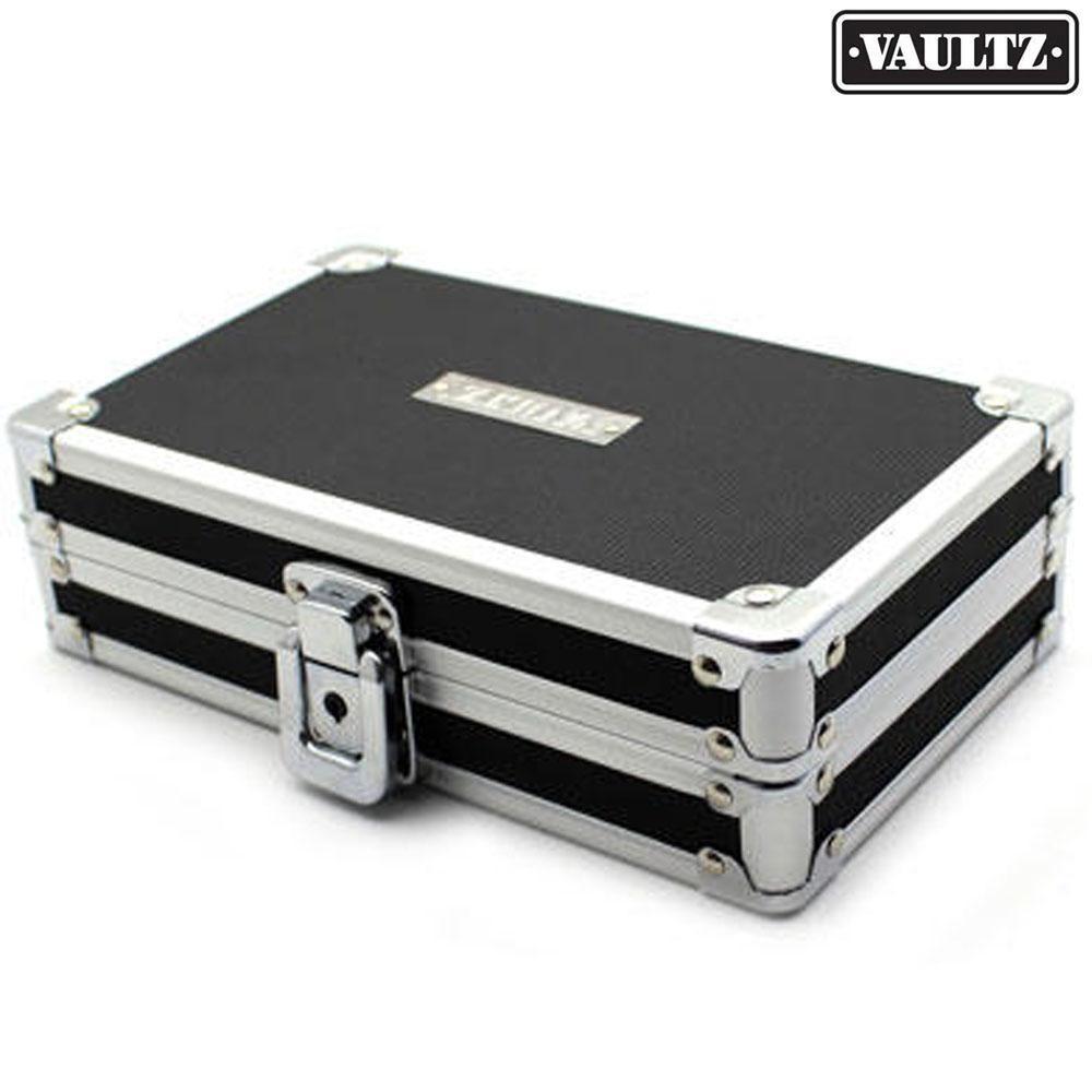 Maleta Organizadora com Chave Vaultz 13cm X 21cm X 6cm Preta  - Casa do Roadie