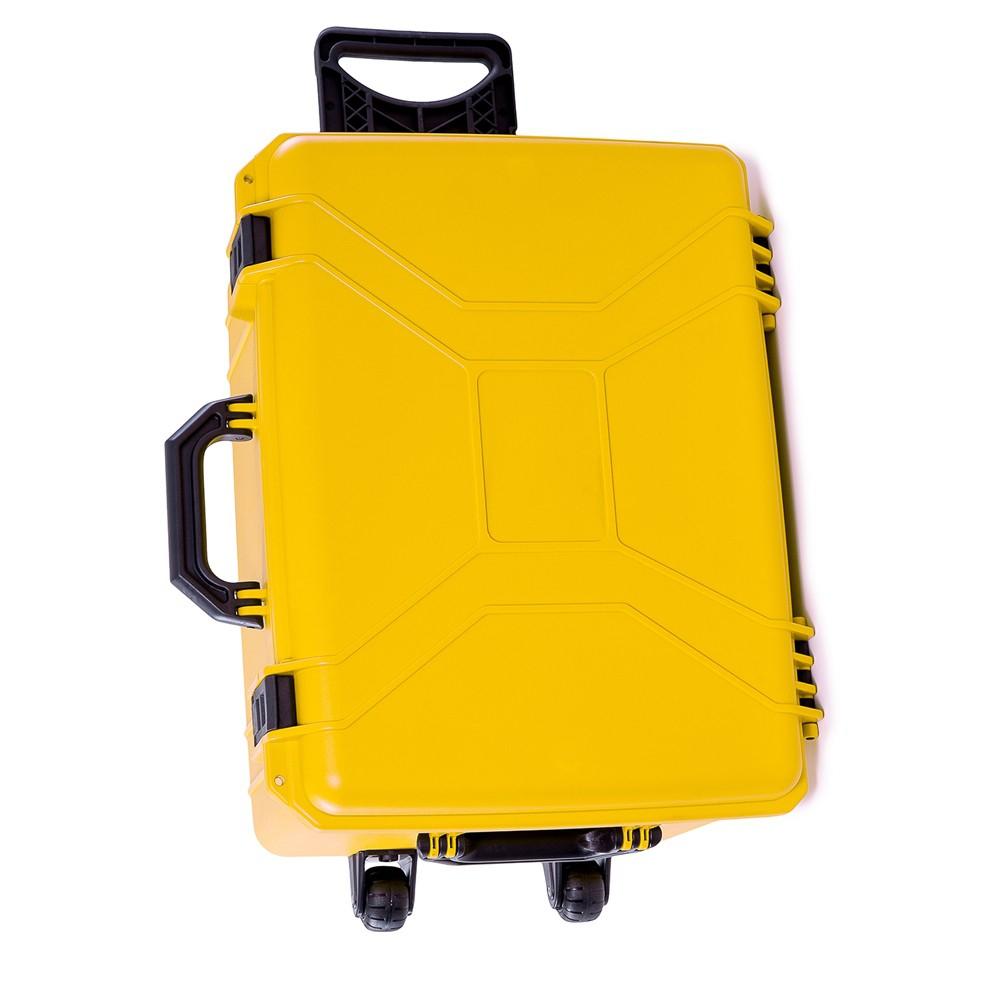 Maleta Plástica Tanque com Rodas Amarela  - Casa do Roadie