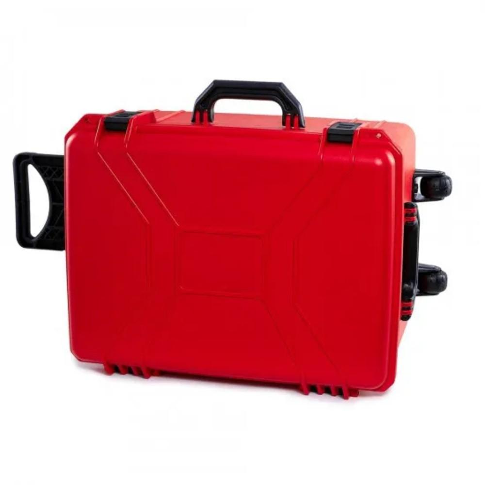 Maleta Plástica Tanque com Rodas Vermelha  - Casa do Roadie