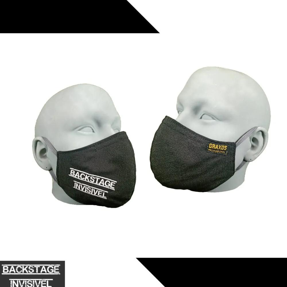 Máscara Backstage Invisível P - By Graxos  - Casa do Roadie