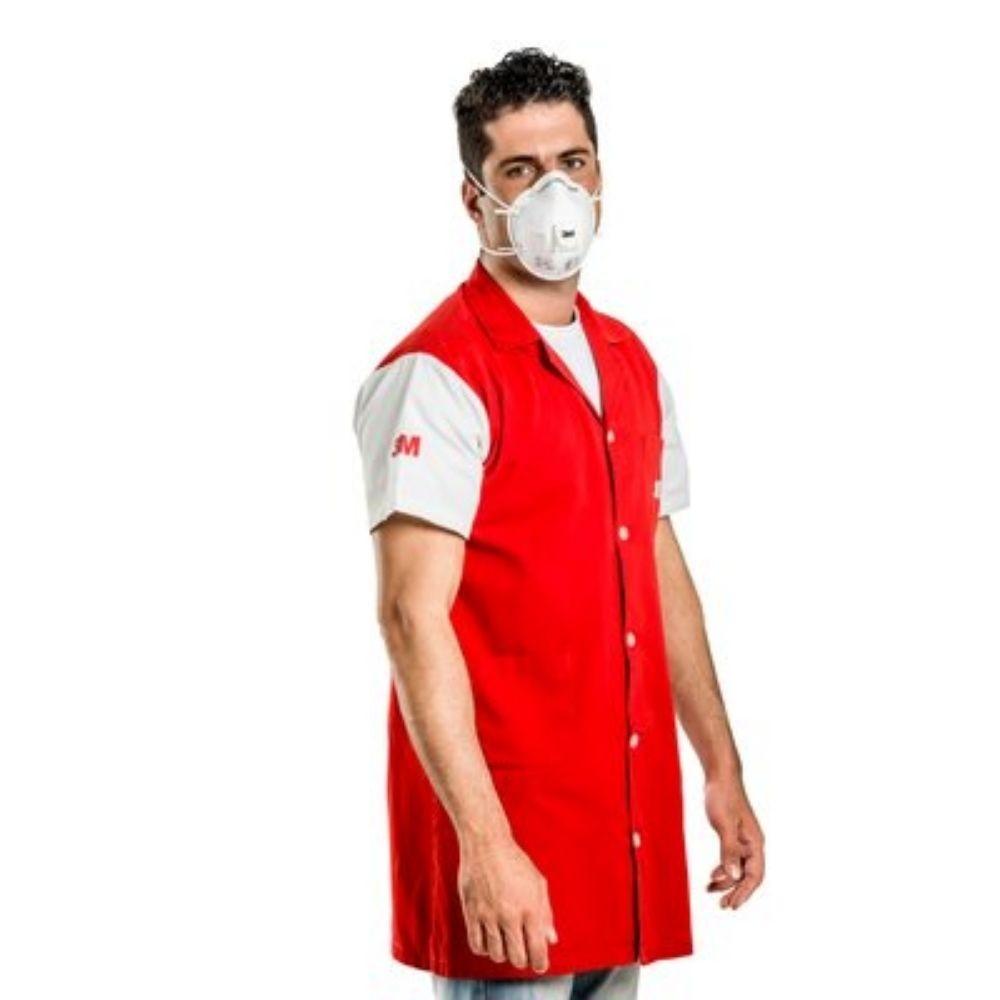 Máscara respirador tipo concha com válvula 3M 8822 PFF2 com  - branca  - Casa do Roadie