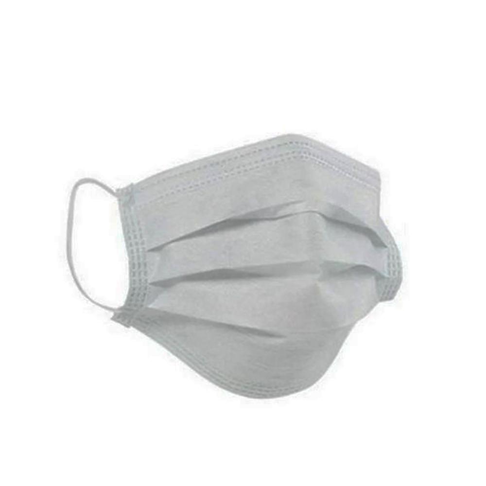 Máscara TNT Camada Tripla com Clip Nasal Branca - 5 unidades
