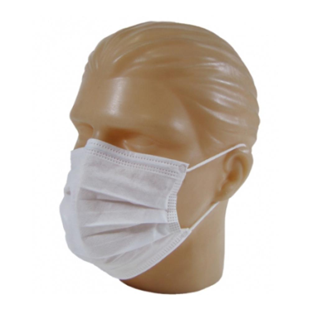 Máscara TNT Camada Tripla com Clip Nasal Branca - 5 unidades  - Casa do Roadie