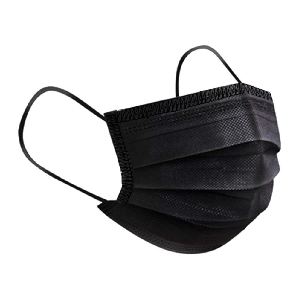 Máscara TNT Camada Tripla com Clip Nasal Preta - 5 unidades  - Casa do Roadie