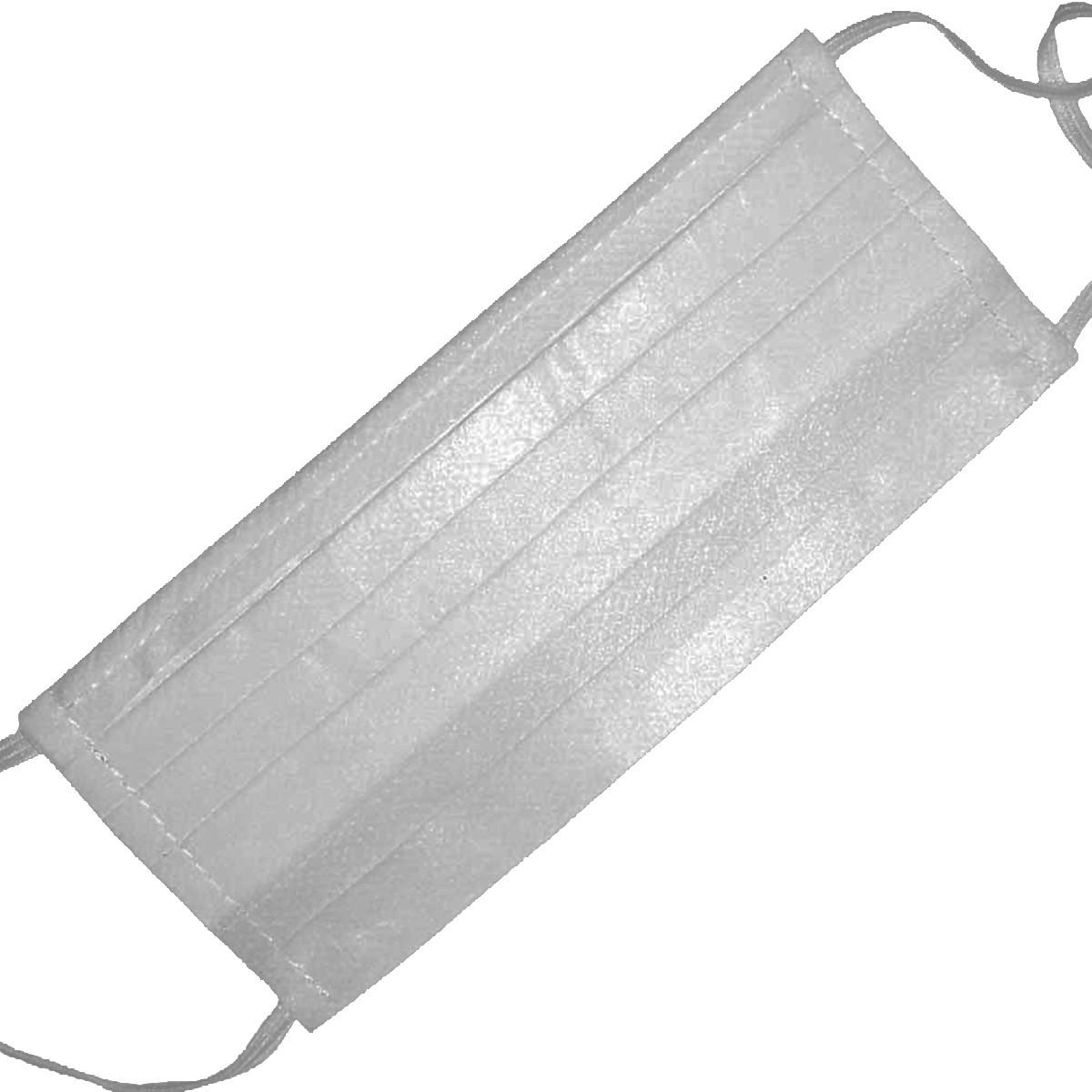 Máscara TNT Retangular Camada Tripla com Clip Nasal - 10 unidades