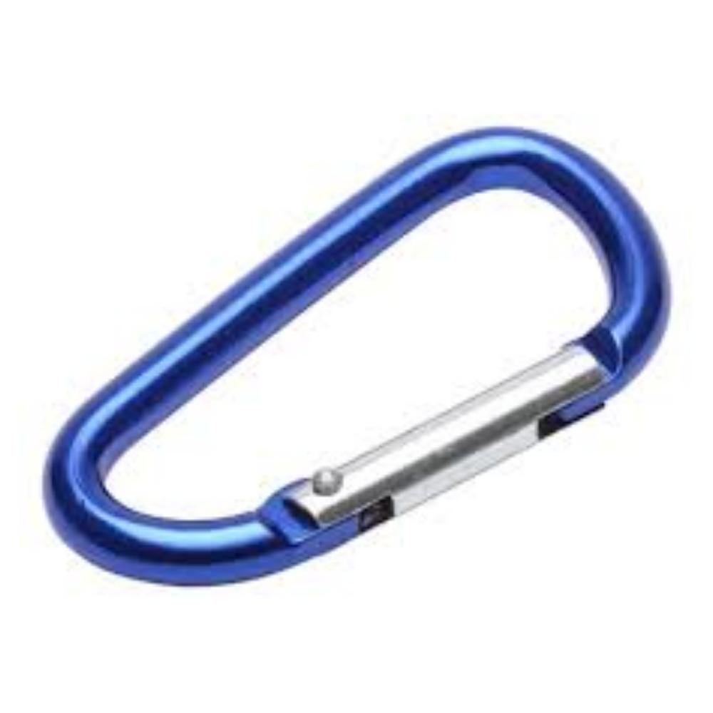 Micro Mosquetão para Chaveiro 4cm Azul  - Casa do Roadie