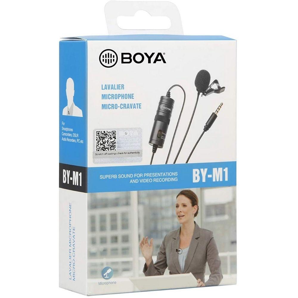 Microfone de lapela com fio Boya BY-M1