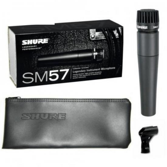 Microfone Para Instrumentos SM57 LC Shure Preto